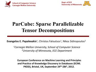 ParCube : Sparse Parallelizable Tensor Decompositions