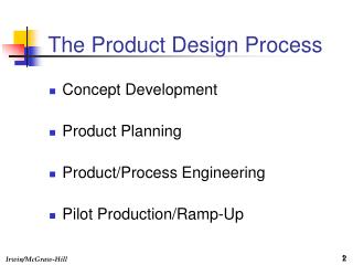 The Product Design Process