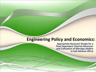 Engineering Policy and Economics: