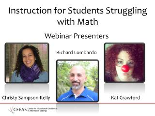 Instruction for Students Struggling with Math