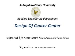 Al- Najah  National University  Building Engineering department