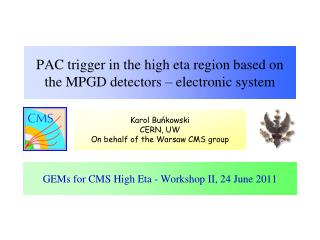 PAC trigger in the high eta region based on the MPGD detectors – electronic  system