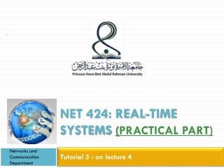NET 424: REAL-TIME SYSTEMS  ( Practical Part)