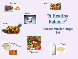 """A Healthy Balance"""