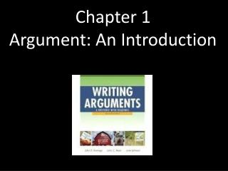 Chapter 1 Argument: An Introduction
