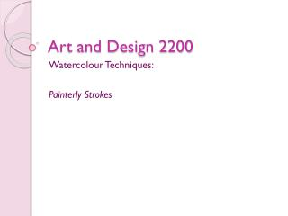 Art and Design 2200