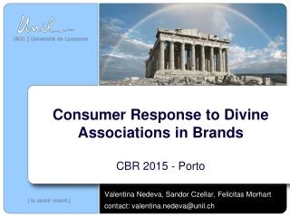 Consumer Response to Divine Associations in Brands CBR 2015 - Porto