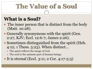 The Value of a Soul