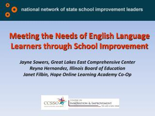 Meeting the Needs of English Language Learners through School Improvement