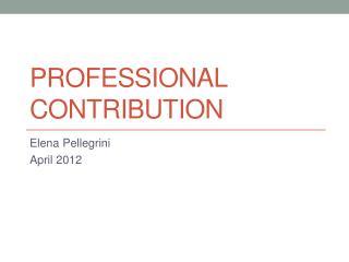 Professional Contribution