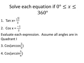 Solve each equation if