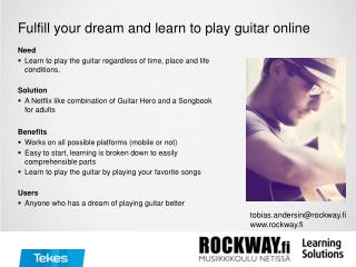 Fulfill your dream  and  learn  to play  guitar online