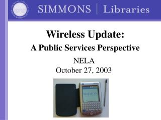 Wireless Update:  A Public Services Perspective