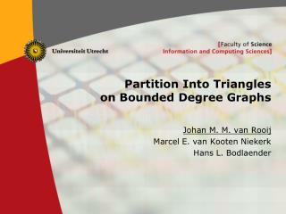 Partition Into Triangles on Bounded Degree Graphs