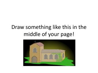 Draw something like this in the middle of your page!