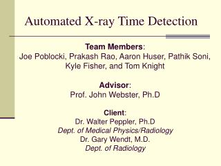 Automated X-ray Time Detection