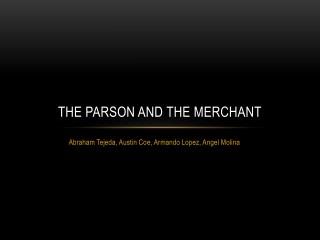 The Parson and the Merchant