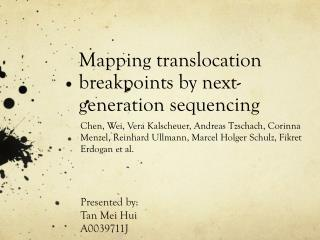 Mapping translocation breakpoints by next-generation sequencing