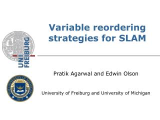 Variable reordering strategies for SLAM