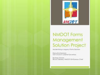 NMDOT Forms Management Solution Project