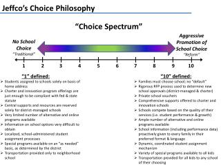 Jeffco's  Choice Philosophy