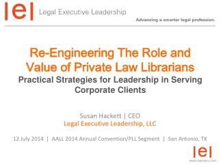 Susan Hackett | CEO Legal Executive Leadership, LLC