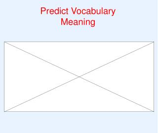Predict Vocabulary Meaning