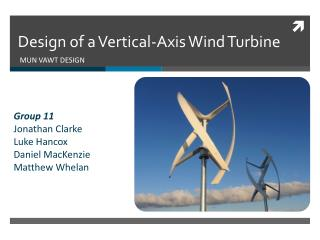 Design of a Vertical-Axis Wind Turbine