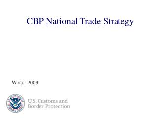 CBP National Trade Strategy