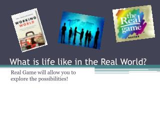 What is life like in the Real World?