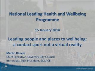National Leading Health and Wellbeing  Programme