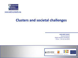 Clusters and  societal challenges