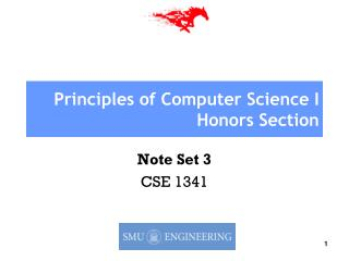 Principles of Computer Science I Honors Section