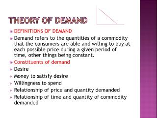 THEORY OF DEMAND