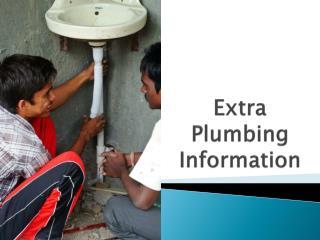 Extra Plumbing Information