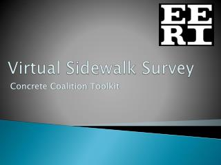 Virtual Sidewalk Survey