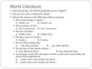 World Literature
