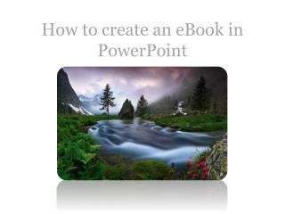 How to create an eBook in PowerPoint