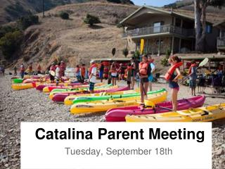 Catalina Parent Meeting