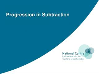 Progression in Subtraction