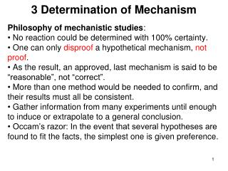 3 Determination of Mechanism