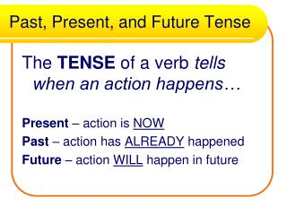 Past, Present, and Future Tense