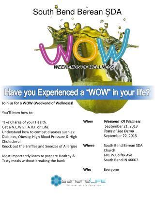 "Have you Experienced a ""WOW"" in your life?"