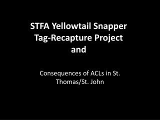 STFA Yellowtail Snapper Tag-Recapture Project and