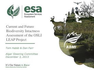 Current and Future Biodiversity Intactness Assessment of the OSLI LEAP Project