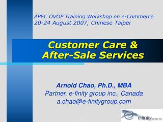 Customer Care &  After-Sale Services