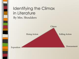 Identifying the Climax  in Literature