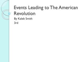the events that led to the second american revolution