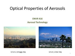 Optical Properties of Aerosols