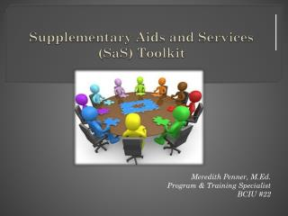Supplementary  Aids  and  Services (SaS)  Toolkit